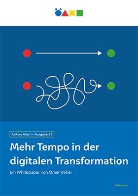Titel Atiker Whitepaper Tempo in der Digitalen Transformation